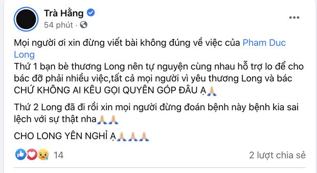 Trà Ngọc Hằng và Cao Thái Hà lên tiếng về 2 tin đồn sai lệch liên quan đến cố diễn viên Đức Long-1