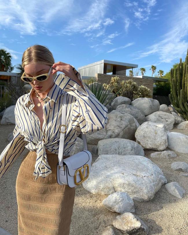 Mỹ nhân Hollywood diện áo sơ mi theo cách thoải mái, đơn giản nhưng sành điệu 100 điểm-9