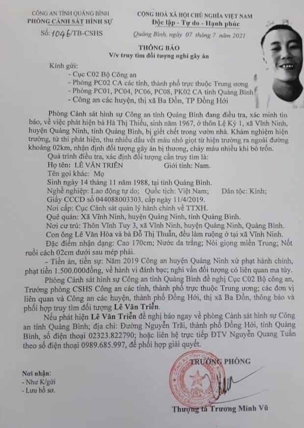 Vụ người phụ nữ tử vong sau vườn, nghi bị sát hại ở Quảng Bình: Nghi phạm là con rể-1