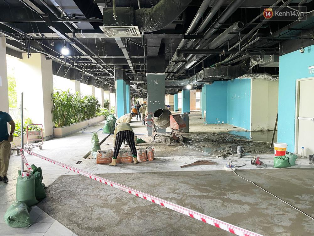 Toàn cảnh bên trong Thuận Kiều Plaza đang thi công chuyển đổi thành bệnh viện dã chiến 1.000 giường bệnh-14