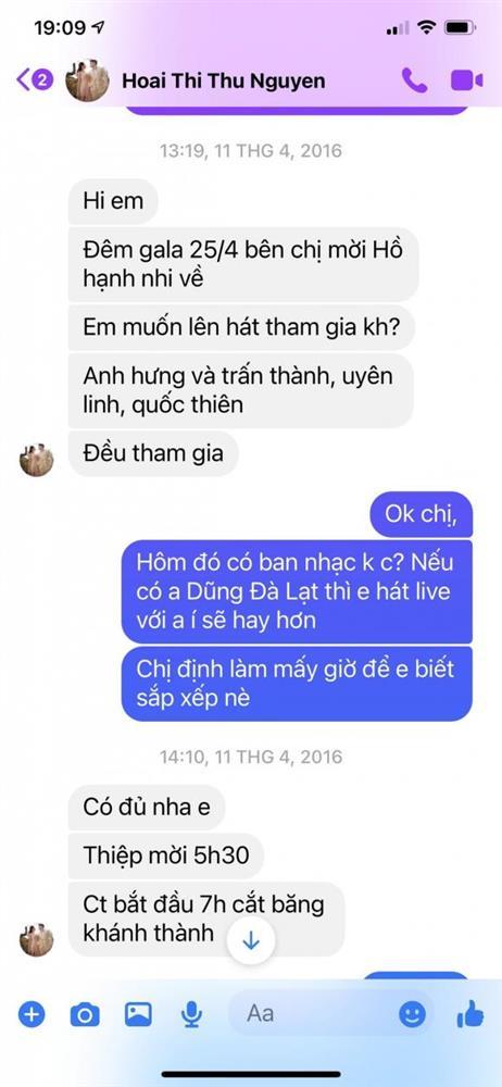 Vy Oanh tung clip quay cận tin nhắn với Thu Hoài, chứng minh không photoshop như lời đồn-2