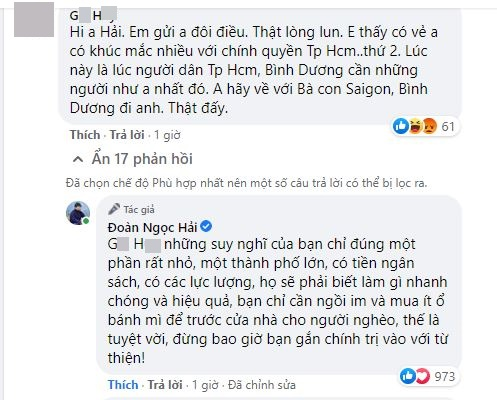 Mới sáng mùng 1 đã bị người lạ đuổi về Sài Gòn, ông Đoàn Ngọc Hải đáp: Bạn chỉ cần ngồi im đã là tuyệt vời!-1