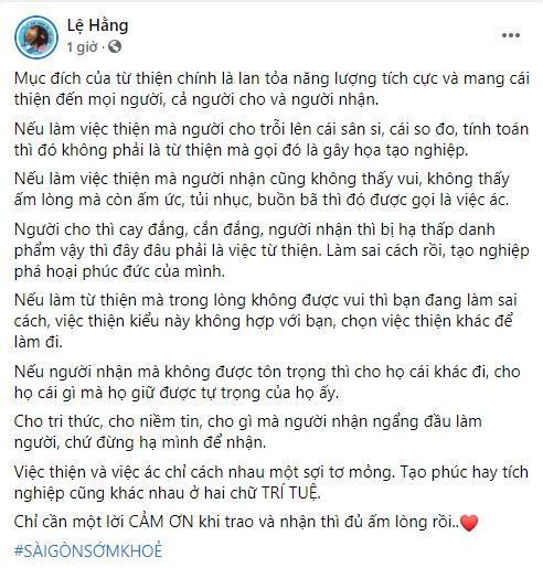 Sao Việt lên án đã từ thiện thì đừng phân biệt sang hèn-5