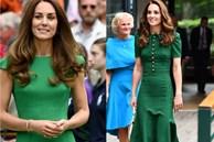 Công nương Kate lại đi vào 'vết xe đổ': 2 lần diện váy xanh đều gây hiểu lầm tai hại