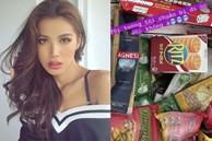 Minh Tú khoe sự 'giàu sang' giữa mùa dịch: Tủ lạnh, kệ đồ ăn đầy ắp như một chiếc siêu thị mini thế này?