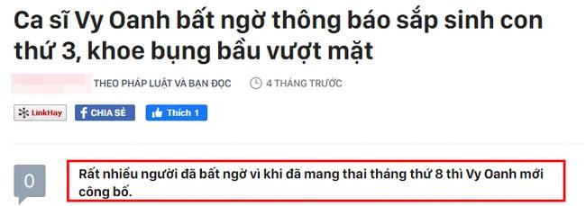 Vy Oanh gây xôn xao khi tháng 3/2021 công khai mang thai gần 8 tháng nhưng tới tháng 7 mới sinh con-1