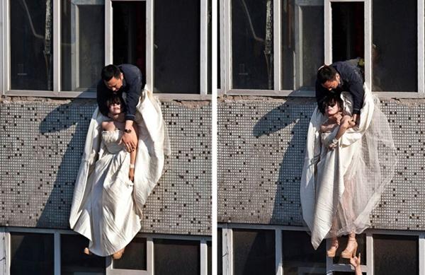 Cô gái mặc váy cưới nhảy khỏi tòa nhà, cuộc giải cứu nghẹt thở trong 54 giây và bức ảnh đạt giải thưởng gây xúc động mạnh-4