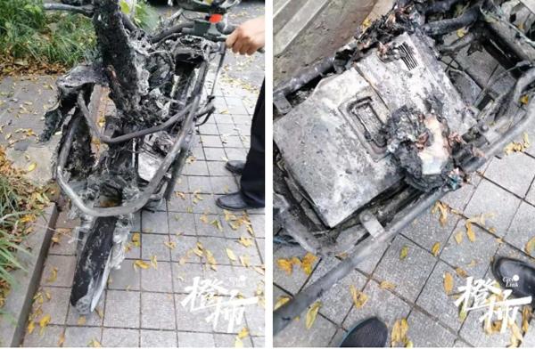 Đang chạy bon bon trên đường, xe điện đột ngột bốc cháy khiến 2 bố con bị thiêu rụi quần áo, người mẹ đi ngay cạnh chết lặng trước hiện trường thảm khốc-1