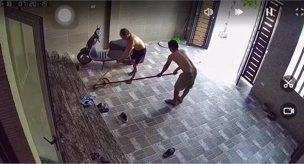 Kinh hãi con rắn lớn trườn nhanh vào nhà dân ở Nghệ An, tấn công chú chó-3