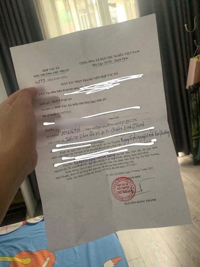 TP.HCM: Xử phạt giám đốc HTX môi trường ký giấy thông hành cho con gái để đi lại tự do-1