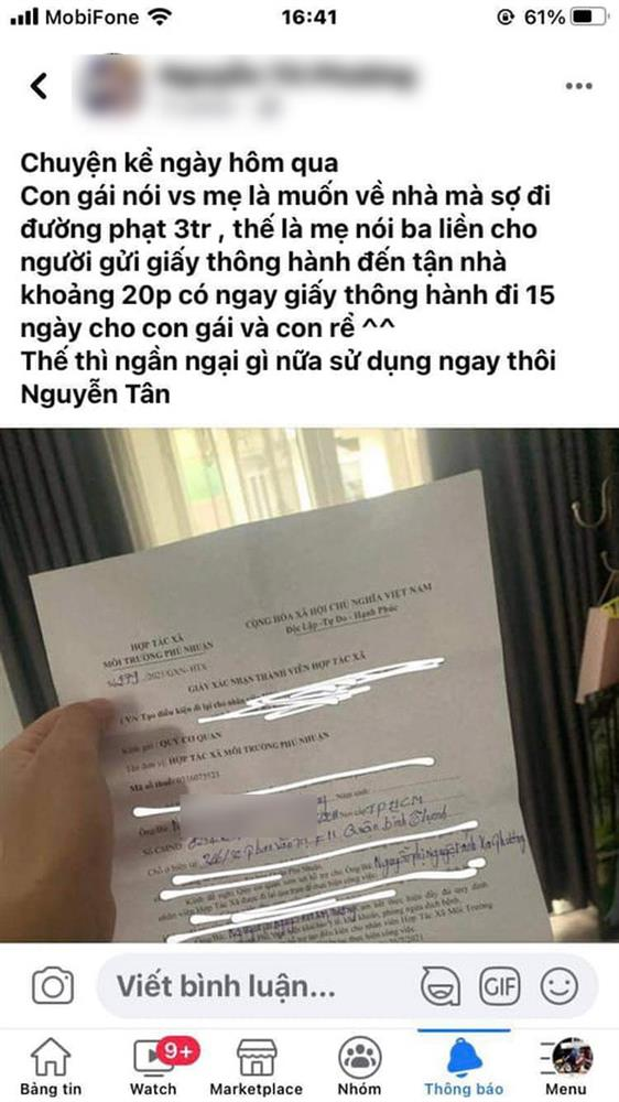 TP.HCM: Xử phạt giám đốc HTX môi trường ký giấy thông hành cho con gái để đi lại tự do-2