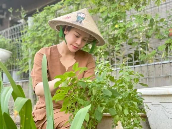 Nhật Kim Anh hóa nông dân chăm sóc vườn rau xanh mướt vào mùa dịch-7