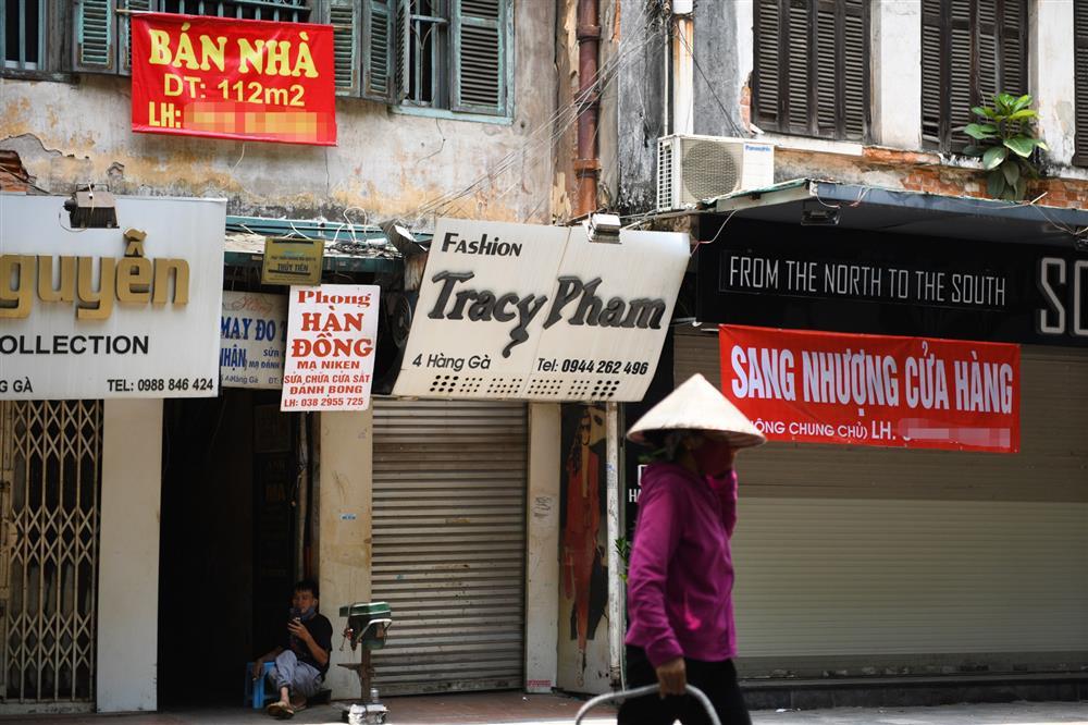 Hàng loạt nhà phố cổ Hà Nội treo biển cho thuê, bán nhà-6