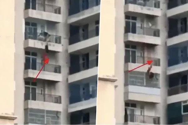 Vợ rơi từ tầng 9 xuống trong lúc cãi nhau với chồng, đoạn video ghi lại toàn bộ sự việc gây ớn lạnh-1