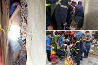 Hà Nội: Giải cứu cháu bé tự kỉ mắc kẹt 2 ngày trong khe hở giữa 2 nhà dân