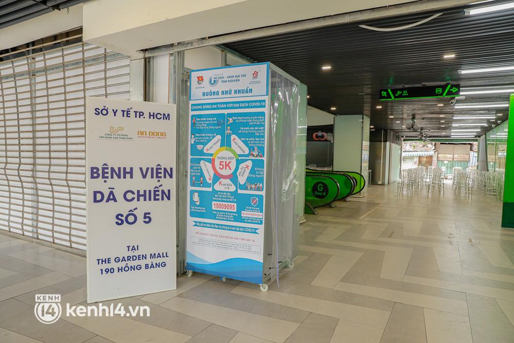Cận cảnh bệnh viện dã chiến số 5 tại Thuận Kiều Plaza trước ngày hoạt động-1
