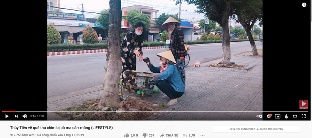 Lùm xùm khắc tên lên mai rùa chưa lắng, Thuỷ Tiên bị netizen khui lại clip treo ngược đàn cò lửa trên ô tô khi mua để phóng sinh-1