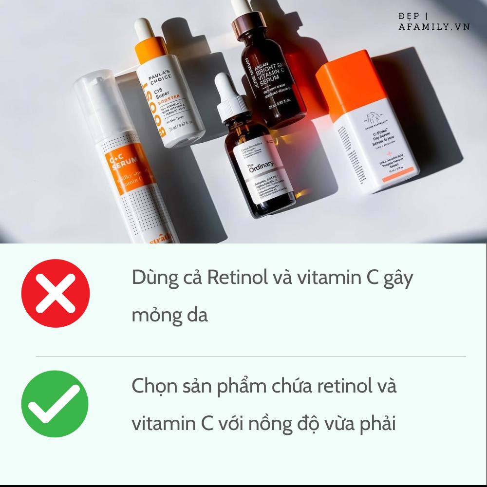 5 sai lầm khi sử dụng retinol và vitamin C khiến da sạm nám và lão hóa không phanh-3
