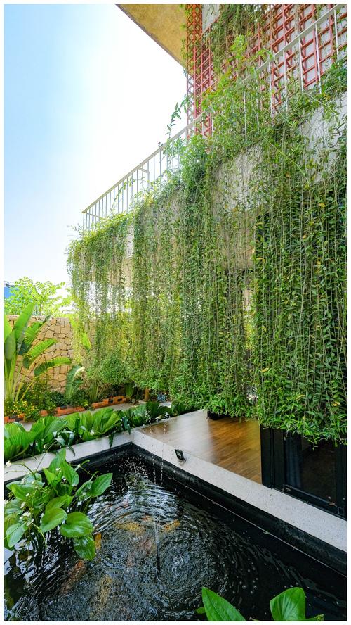 Ở đây có căn biệt thự nhiệt đới ngập cây xanh, bước vào bên trong càng wow hơn nữa vì không gian chill hệt như resort-6