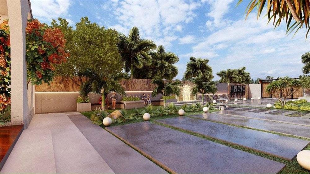 Nhà vườn 3 mặt thoáng, mở cửa là đắm chìm vào hồ bơi xanh mát-2