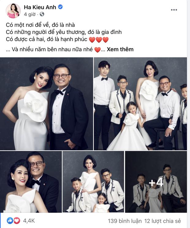 """Hà Kiều Anh kỉ niệm 14 năm ngày cưới sau ồn ào công chúa triều Nguyễn, visual cả nhà đỉnh chóp"""" nhưng có 1 điều gây tiếc nuối!-1"""