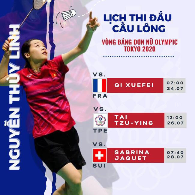 Hot girl cầu lông Nguyễn Thuỳ Linh đại thắng sao Pháp gốc Trung Quốc ở Olympic Tokyo-7