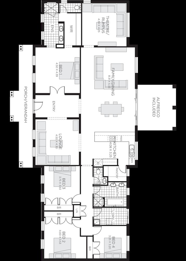 Những mẫu nhà vườn 1 tầng 4 phòng ngủ đẹp đẳng cấp, cho bạn cuộc sống sang chảnh và không gian nghỉ dưỡng hoàn hảo-5