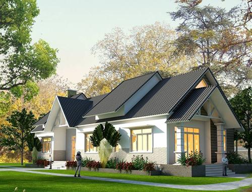 Những mẫu nhà vườn 1 tầng 4 phòng ngủ đẹp đẳng cấp, cho bạn cuộc sống sang chảnh và không gian nghỉ dưỡng hoàn hảo-16