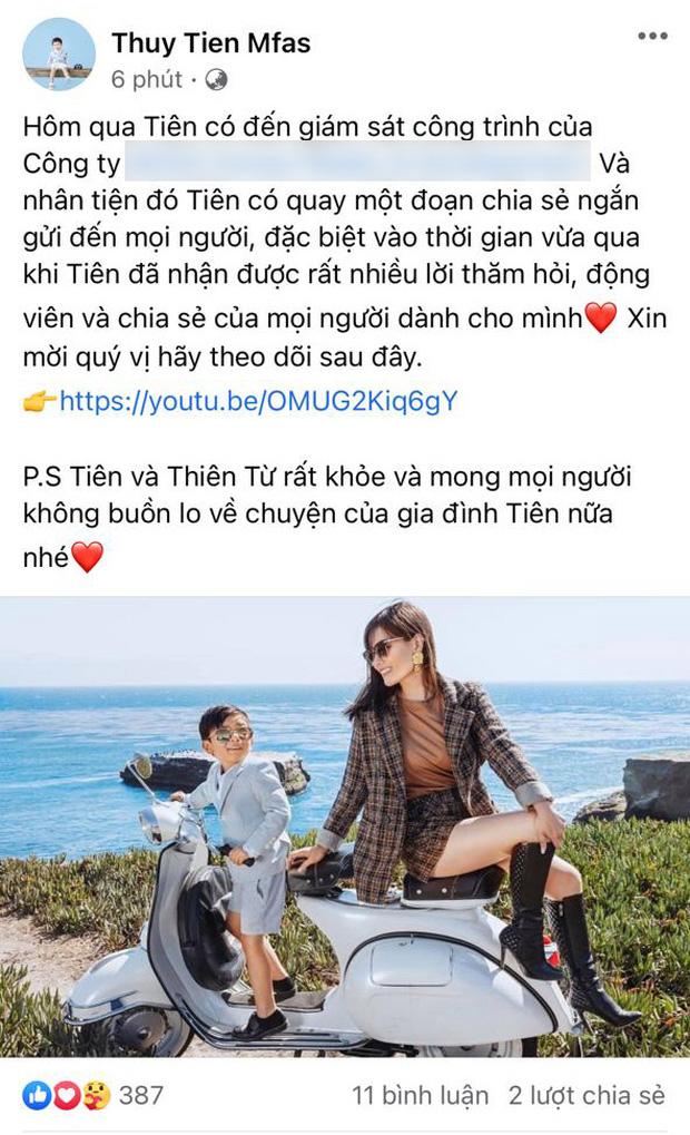 Doanh nhân Thuỷ Tiên tung clip tiết lộ tình trạng hiện tại của 2 mẹ con, nói 1 câu đặc biệt về Đan Trường sau ly hôn!-1