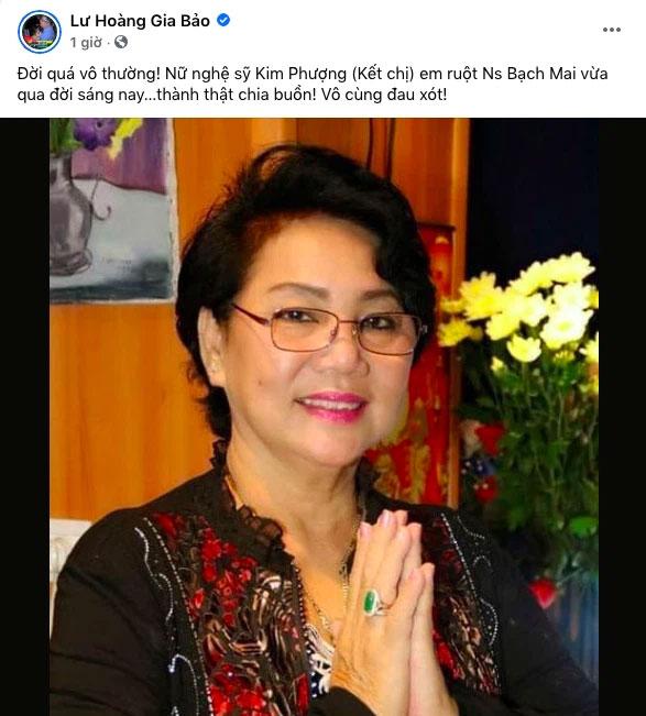 Xót xa NS Kim Phượng vừa qua đời vì Covid-19: Gia đình nhận trước tro cốt, tang lễ phải tạm hoãn do dịch-1