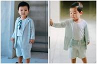 Nghỉ dịch ở nhà, Hoà Minzy lên đồ cho con trai như 'tổng tài' nhưng chỉ để đi làm một việc
