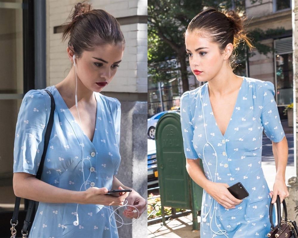 Selena Gomez có nhiều khoảnh khắc chạm đỉnh visual nhờ 4 cách buộc tóc xinh tươi, lãng mạn-2
