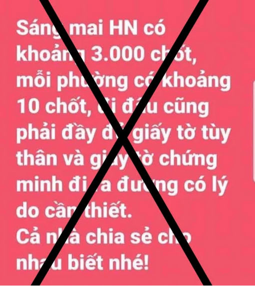 PGĐ Công an Hà Nội: Thông tin sáng mai có khoảng 3.000 chốt, mỗi phường có khoảng 10 chốt là bịa đặt-1