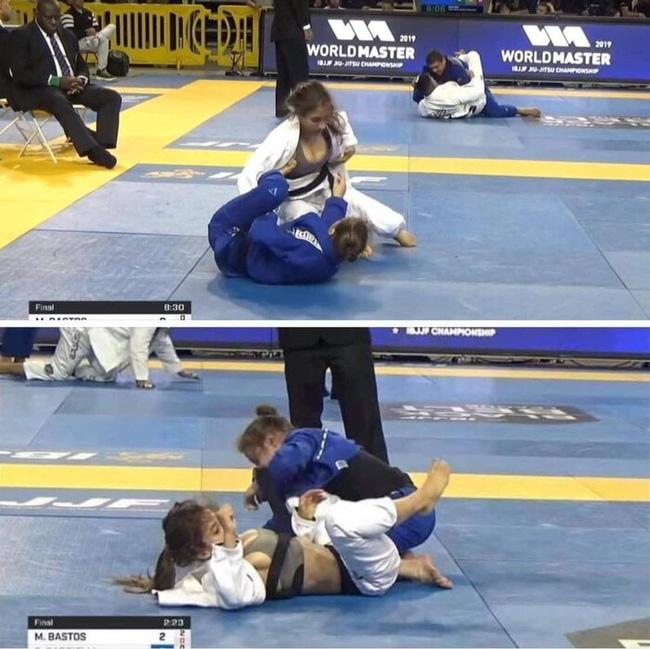 Xôn xao hình ảnh nữ võ sĩ bị đối thủ lột đồ lộ vòng 1 trên sàn đấu Olympic Tokyo 2020, chuyện gì đã xảy ra?-4