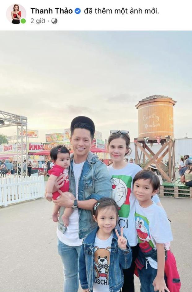 Thanh Thảo khoe ảnh gia đình hạnh phúc của em gái, con chung của Thuỵ Anh và Ngô Kiến Huy giờ lớn và soái lắm rồi-1