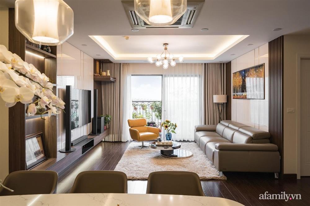 Mãn nhãn với cách thiết kế và bài trí không gian nội thất bên trong căn hộ 120m² ở Hà Nội-1