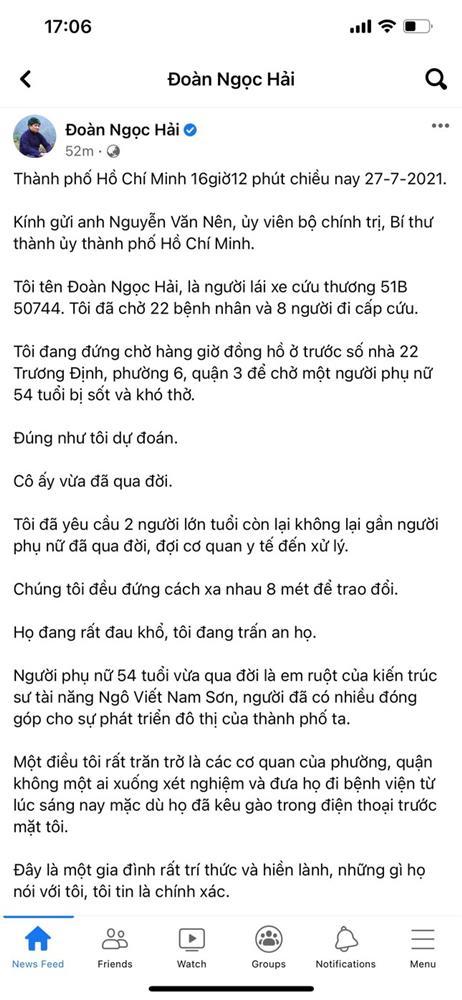 Sự thực vụ tử vong trên tài khoản Facebook 'Đoàn Ngọc Hải'-1