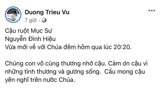 Gia đình NS Hoài Linh xót xa nhận tin người thân qua đời giữa dịch, Nam Thư cùng dàn sao Việt đồng loạt chia buồn-1
