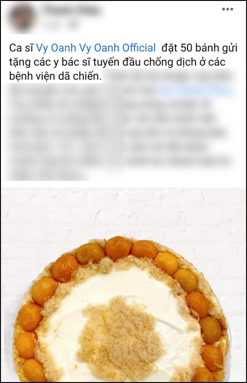 Vy Oanh bị dân mạng mỉa mai keo kiệt khi lộ chuyện mua tặng 50 ổ bánh cho các bác sĩ tuyến đầu chống dịch-1