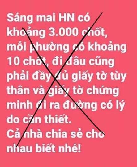 Phạt người tung tin Hà Nội lập 3.000 chốt kiểm soát-1