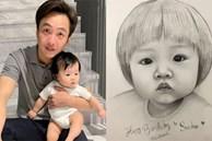 Bức tranh fan vẽ tặng con gái Cường Đô La bỗng gây sốt cõi mạng, nam đại gia phải đích thân 'mò' hẳn Facebook cảm ơn