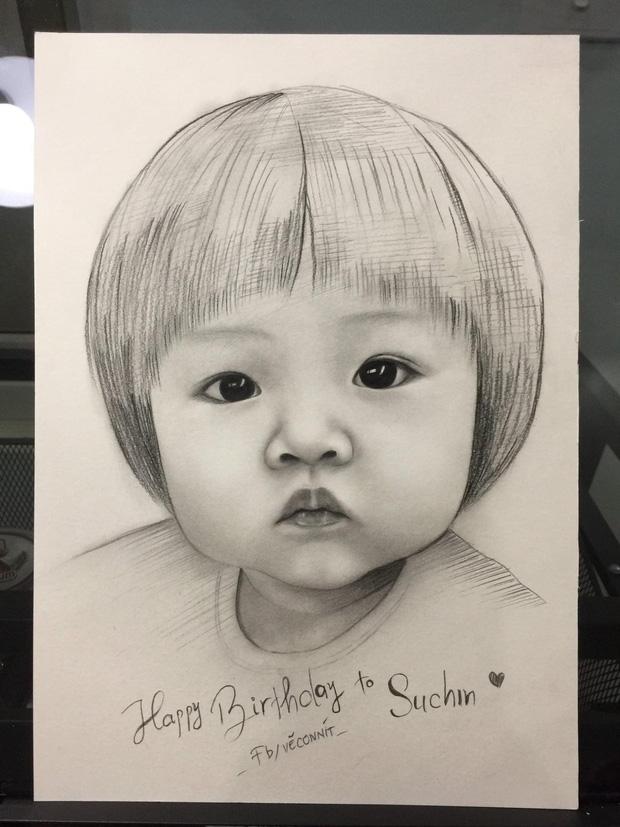 Bức tranh fan vẽ tặng con gái Cường Đô La bỗng gây sốt cõi mạng, nam đại gia phải đích thân mò hẳn Facebook cảm ơn-1