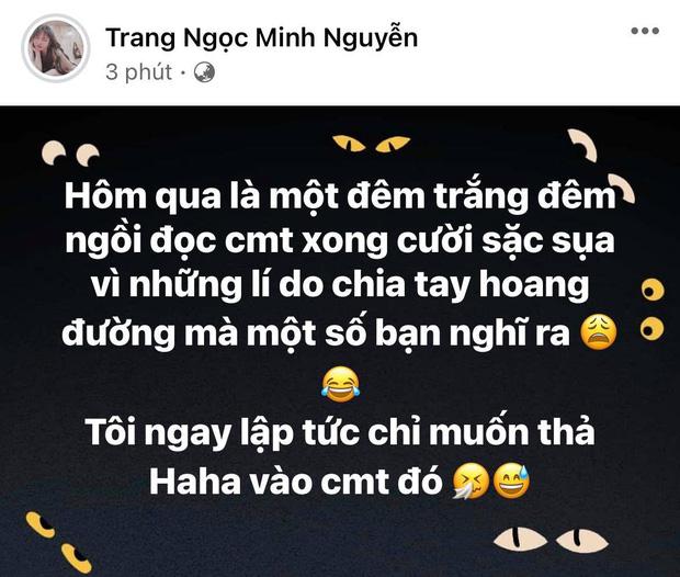 Lương Minh Trang chính thức lên tiếng trước nghi vấn cắm sừng Vinh Râu, nói luôn thái độ hậu ly hôn-1