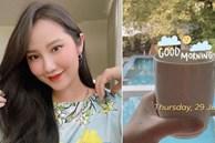 Vợ TGĐ Phan Thành check-in ở background 'thương hiệu' nhà họ Phan, chắc là về ở biệt thự trong mùa dịch đây mà