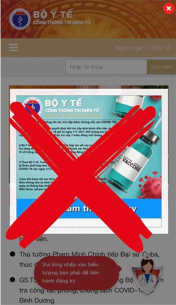 Cảnh báo trang web giả mạo cổng thông tin điện tử của Bộ Y tế-1