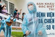 Sân khấu đặc biệt: Nơi ca sĩ Phương Thanh và các nghệ sĩ biểu diễn cho 4.000 F0 tại bệnh viện dã chiến