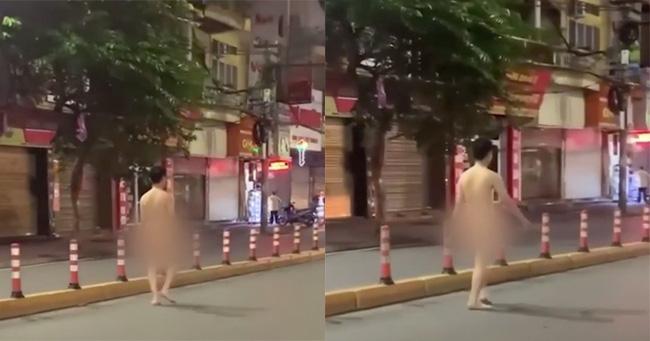 Nam thanh niên khỏa thân tung tăng đi bộ trên đường phố Hải Phòng-1