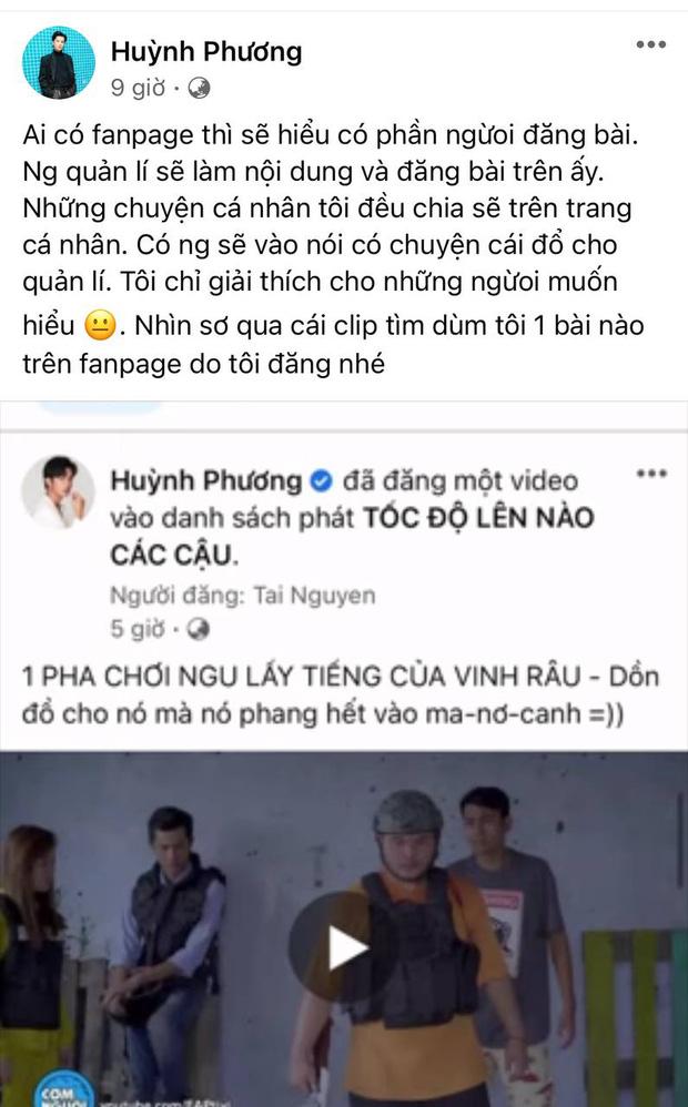 Huỳnh Phương lên tiếng về nghi vấn đăng ảnh cà khịa Lương Minh Trang, bênh Vinh Râu?-2