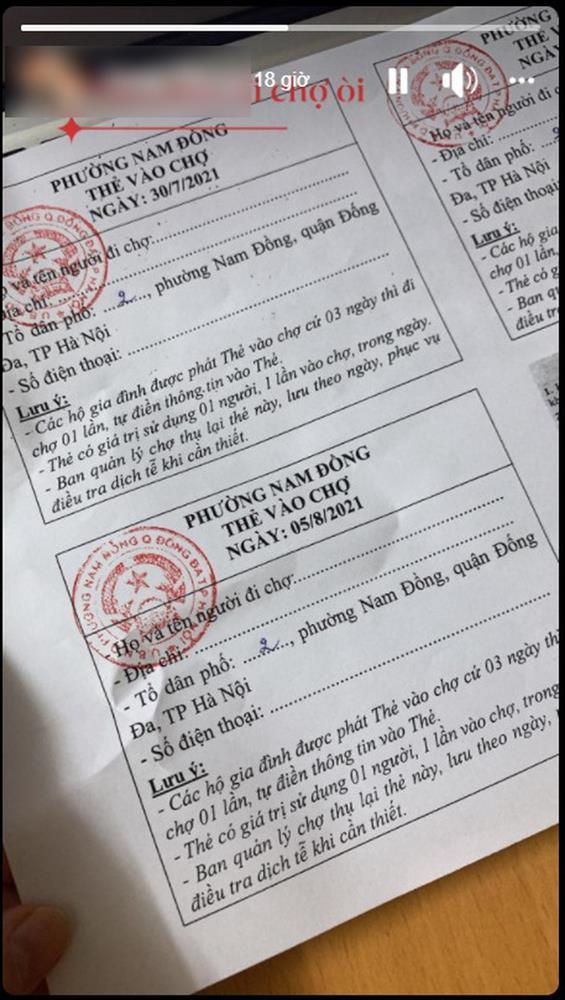 Dân mạng khoe thẻ đi chợ trong những ngày Hà Nội thực hiện giãn cách xã hội-4