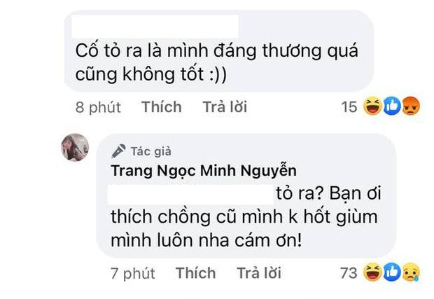 Bị khịa cố tỏ ra đáng thương sau ly hôn, Lương Minh Trang đáp trả: Bạn thích chồng cũ mình không hốt giùm!-2